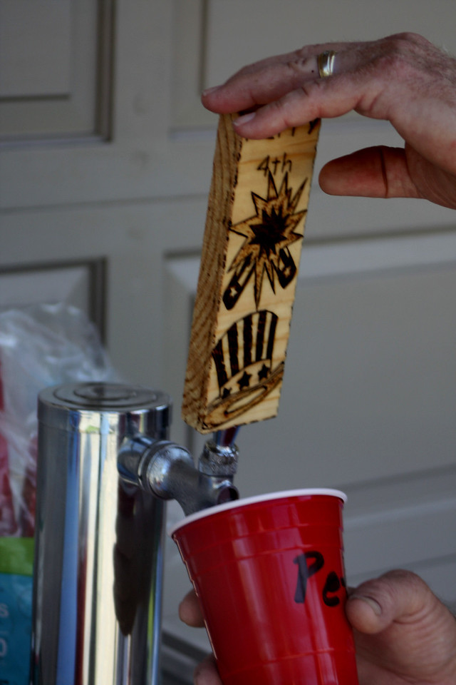 The Keg.  Hand made tap handle.