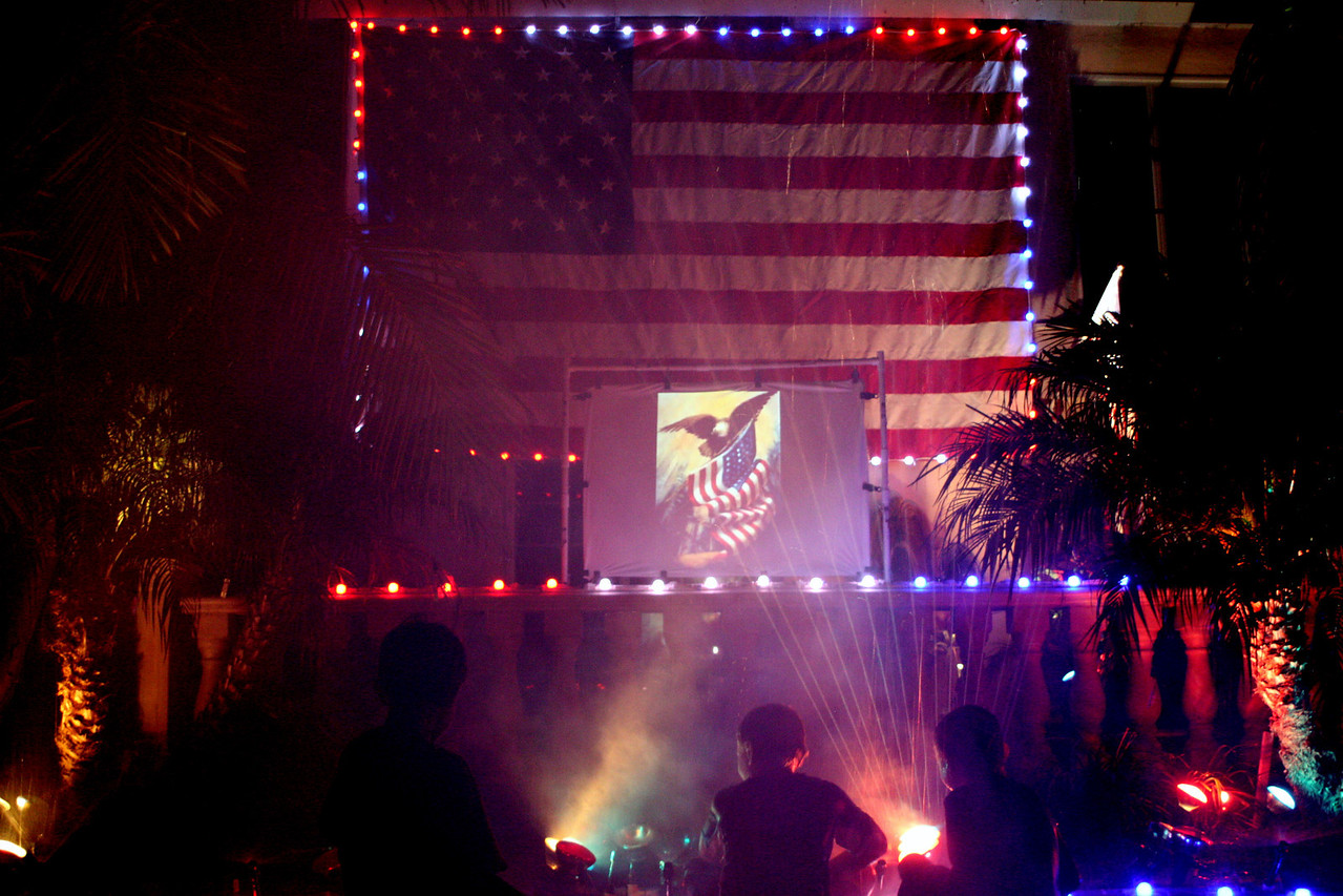 Normandy Block Party - 4th of july - Placentia, Ca.  Brothers light and water show.
