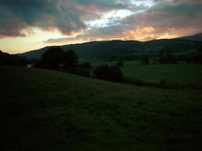 Sunset over Afon Dyfi (River Dovey) near Machynlleth