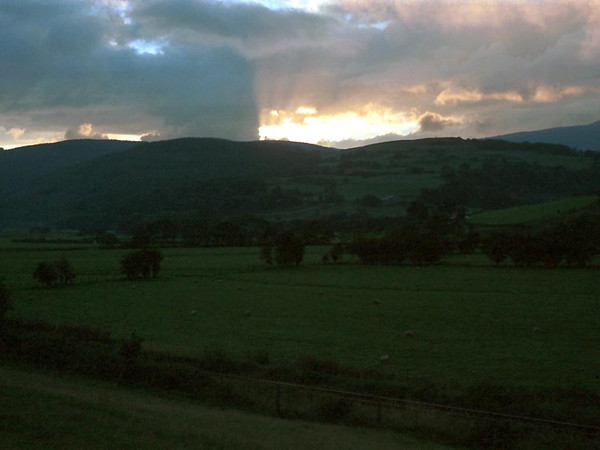 Sunset over River Dovey near Machynlleth