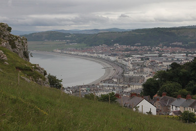 Llandudno from the lower tram heading back from the top of the Great Orme. 26 June 2012