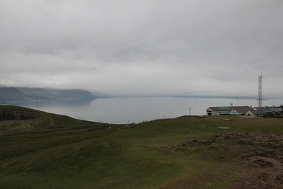 Looking towards Anglesey (in the mist) from the Great Orme. 26 June 2012