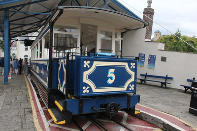 Tram 5 at the lower station of the Great Orme Tramway. 26 June 2012