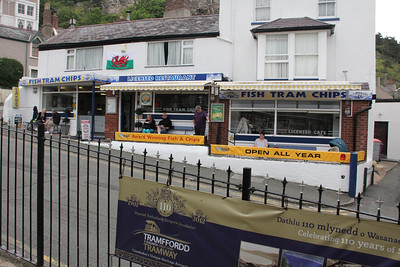 Fish Tram Chips at the bottom terminus of the Great Orme Tramway. 26 June 2012