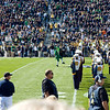 ND Marching Band half time show - ND Leprechaun in mid air dancing
