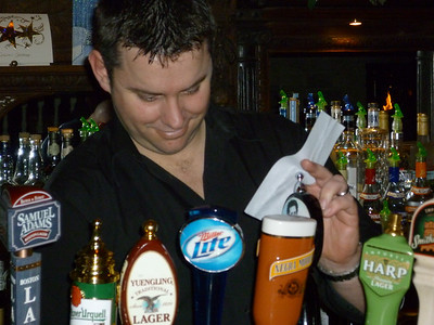 Our Irish bartender