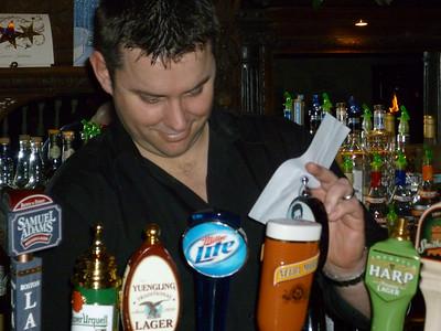 Our Irish bartender