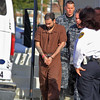 Alberto Sierra was taken from the Fitchburg court house on Tuesday morning after his trial. SENTINEL & ENTERPRISE/JOHN LOVE