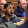 Listening in Fitchburg court to the hearing for Elsa Oliver and Alberto Sierraon Tuesday morning is Jeremiah Oliver's half brother Sixto Oliver, 19. SENTINEL & ENTERPRISE/JOHN LOVE