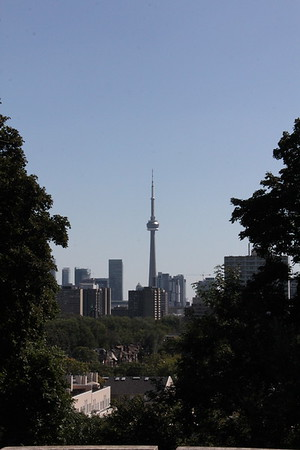 The CN Tower from Casa Loma