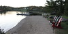 The beach and landing stage