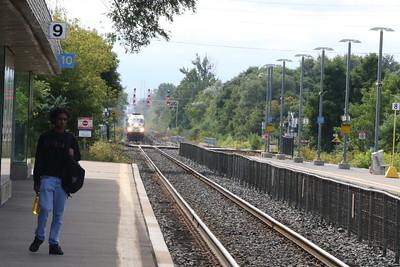 Toronto bound train approaching Port Credit