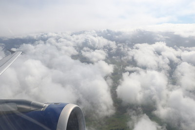 On G-EUPS (BA1483 to LHR), heading above the clouds