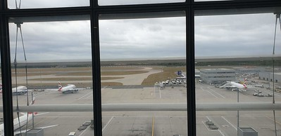 View out of the South Terraces Lounge at Heathrow Terminal 5.