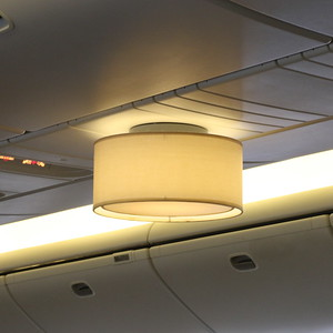 On G-VIIK (BA99 to YYZ), Lampshade in the Club World cabin