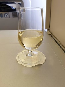 On G-VIIK (BA99 to YYZ), champagne served before takeoff.