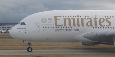 Emirates A380 A6-EUI at Heathrow