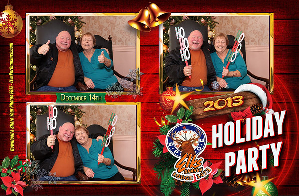 Orange Elks Children's Christmas Party Photo Booth 4x6 Three Shot Pictures