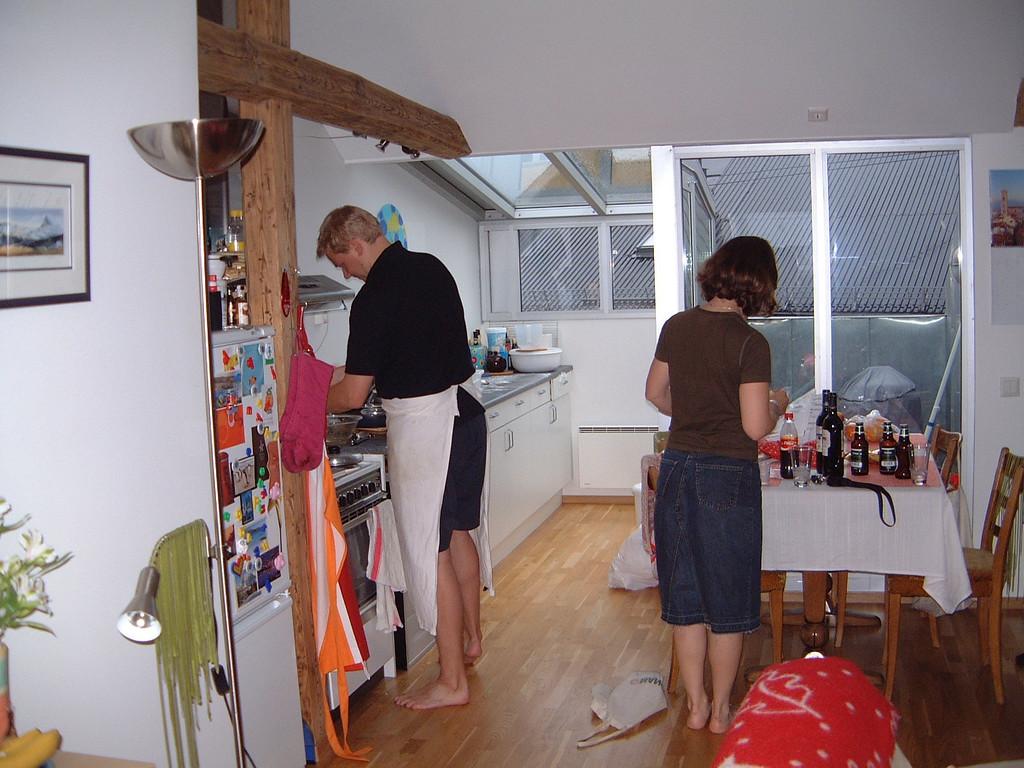001 Cal & Caz Preparing Dinner