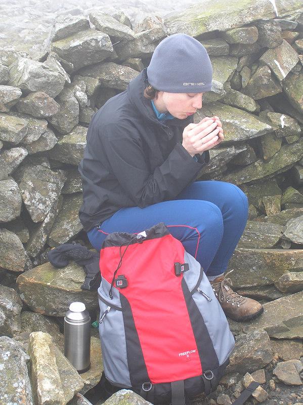 Tea break at Penygadair