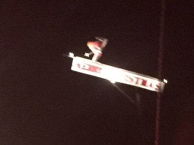 Linebrook Rd, Ipswich. That Santa is flying down the jump!!