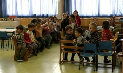 Nous sommes retournés en classe pour nous préparer à la sortie.