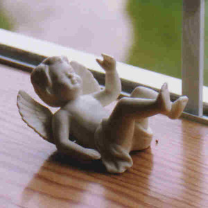 Angel falling over, Flery Manor, Grants Pass, OR October 1999