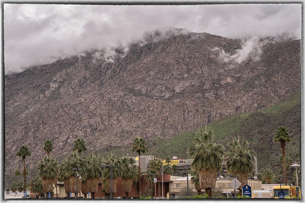 Fog Over San Jacinto Mountains Palm Springs