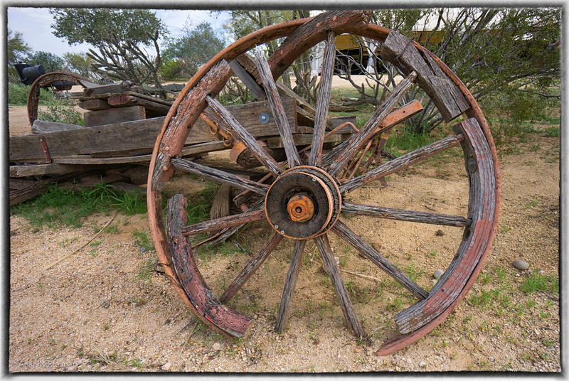 Deteriorating Wagon Wheel