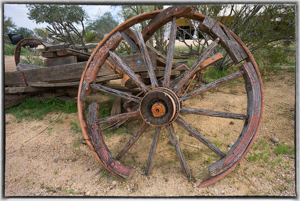 Deteriorating Wagon Wheel
