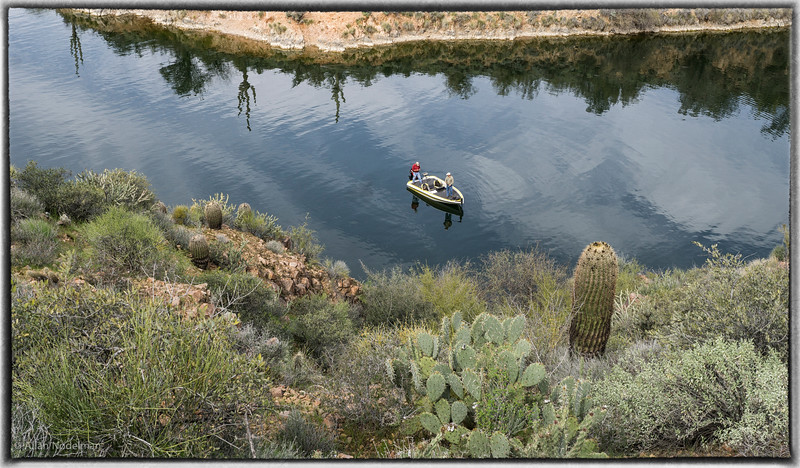 Fishing on Saguaro Lake