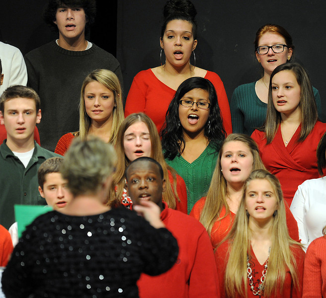 Pam Mayfield and her Mauldin High School Chorus entertain at the annual Mauldin Christmas Concert.<br /> GWINN DAVIS PHOTOS<br /> gwinndavisphotos.com (website)<br /> (864) 915-0411 (cell)<br /> gwinndavis@gmail.com  (e-mail) <br /> Gwinn Davis (FaceBook)