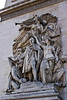 Statues on the Arc de Triompe, Paris, France.