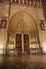 Paris 2013 - Notre Dame at Night - Main Door