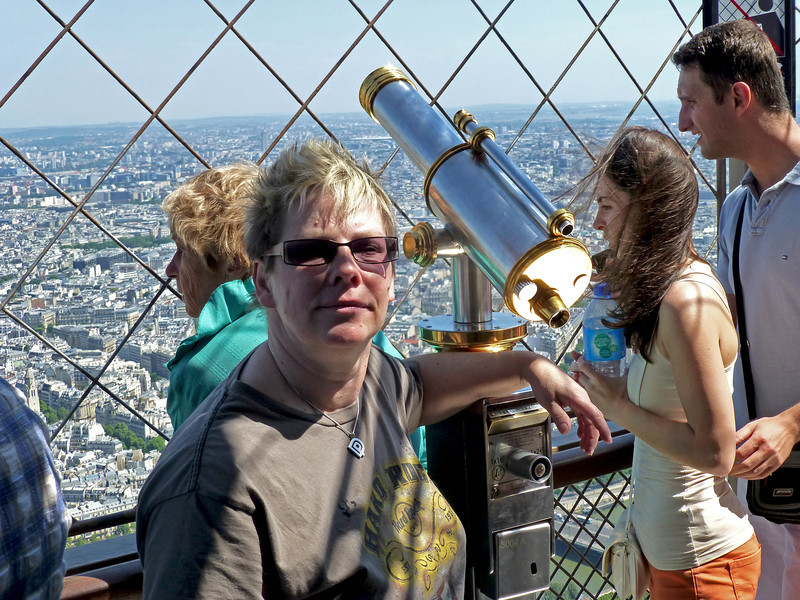 At the top of the Eiffel Tower