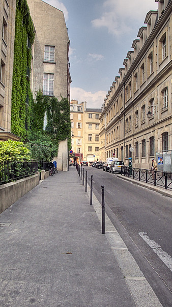 Paris Marais.  Another photo where I've taken three exposures from one RAW and processed to a HDR image.