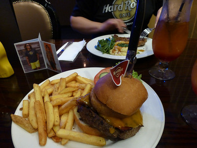 Gourme food at Hard Rock Cafe