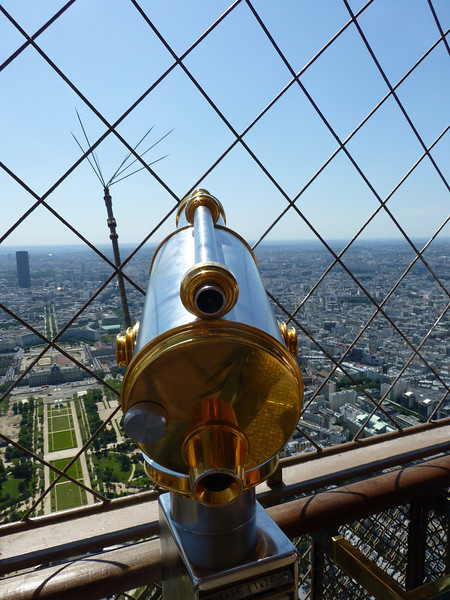 At the top of Eiffel Tower