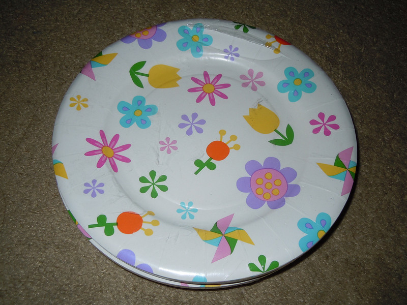 Small Floral plates, 5 packages of 10ct.
