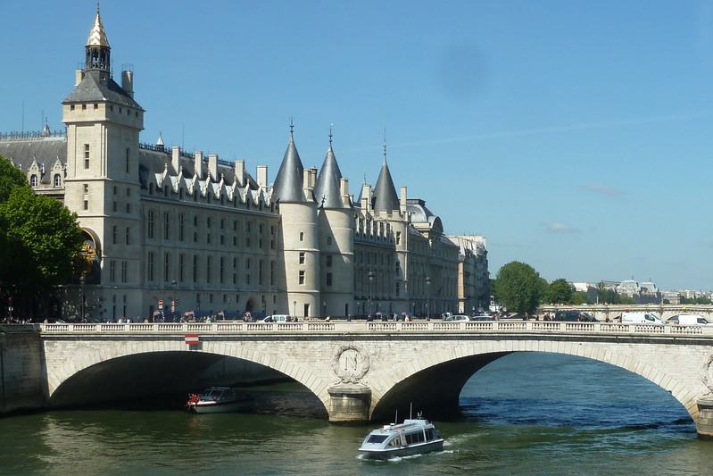 Beautiful weather on Day 1 on our arrival. This is one of the older buildings in Paris, La Conciergerie, the Parisian municipal prison where Marie Antoinette was held.