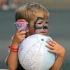 4th of July celebration at Pelham Elementary School. Michael Comtois, 5, of Pelham. (SUN/Julia Malakie)