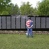The Moving Wall replica of the Vietnam Veterans Memorial comes to Pelham Village Green for Memorial Day weekend. [no ID, left before I got his name]  (SUN/Julia Malakie)