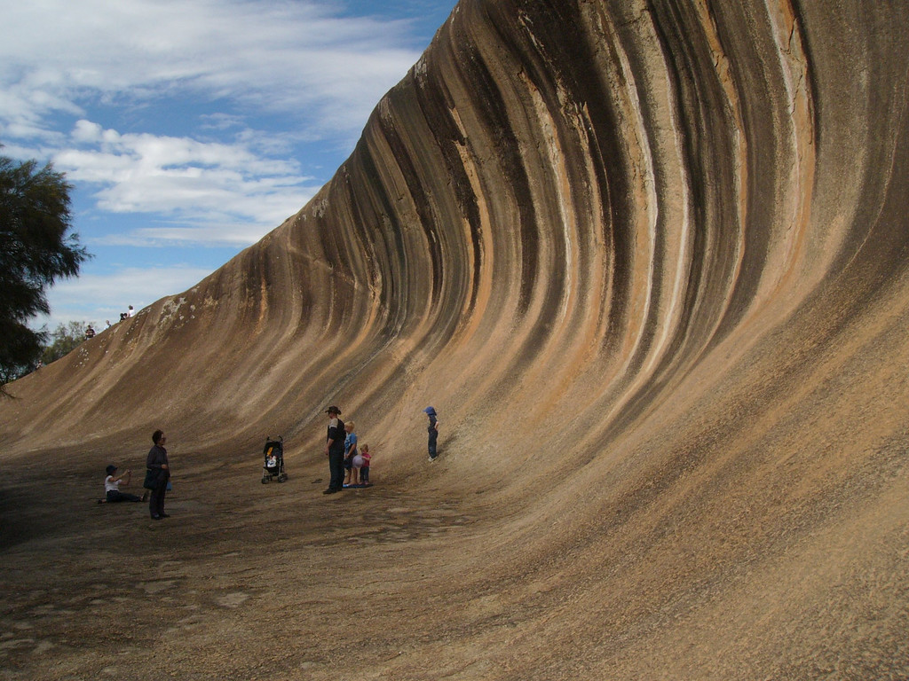 20060421_1827 Wave Rock A photograph like this appeared in the National Geographic, and Wave Rock was soon declared a National Park.