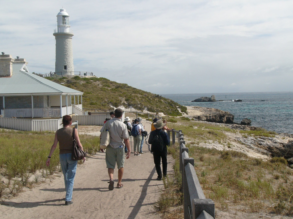 20060423_1906 Bathurst Lighthouse, Rottnest Island. The first settlers in Rottnest Island were farmers. This is pretty hard to imagine, since the soil is arid and most of the internal lakes have become salty. Later, Rottnest Island became a prison for Aborigines and juvenile offenders.
