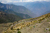 View from the top of last pass before heading to next village which had a dirt road. Altitude was slightly over 4,000m which made us walk slower.