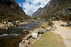 The 2 days before crossing the pass are mostly in the valley, along the river.
