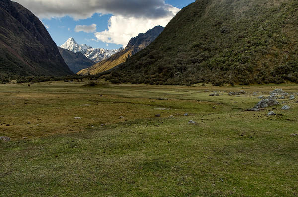 The last camping place before leaving the next morning to reach the road and find a mean of transport back to Huaraz.