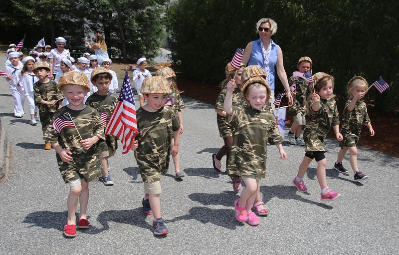 Annual Memorial Day parade at Building Blocks Preschool & Kindergarten. (SUN/Julia Malakie)