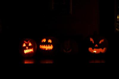 Pumkin carvings for Halloween 2011