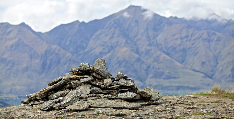Cairn on top of Rocky Mountain, Wanaka Feb 2011